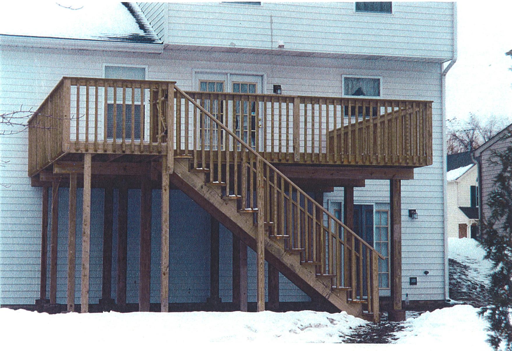 20 unique 2 story deck designs home plans blueprints for 2nd story deck plans